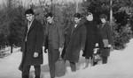 Pribojski đaci prelaze Busiju- Majevicu 1962. godine
