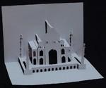 Taj Mahal radjen tehnikom Kirigami