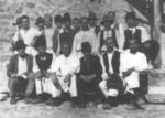 Učesnici u gradnji škole u Podgori 1939. godine